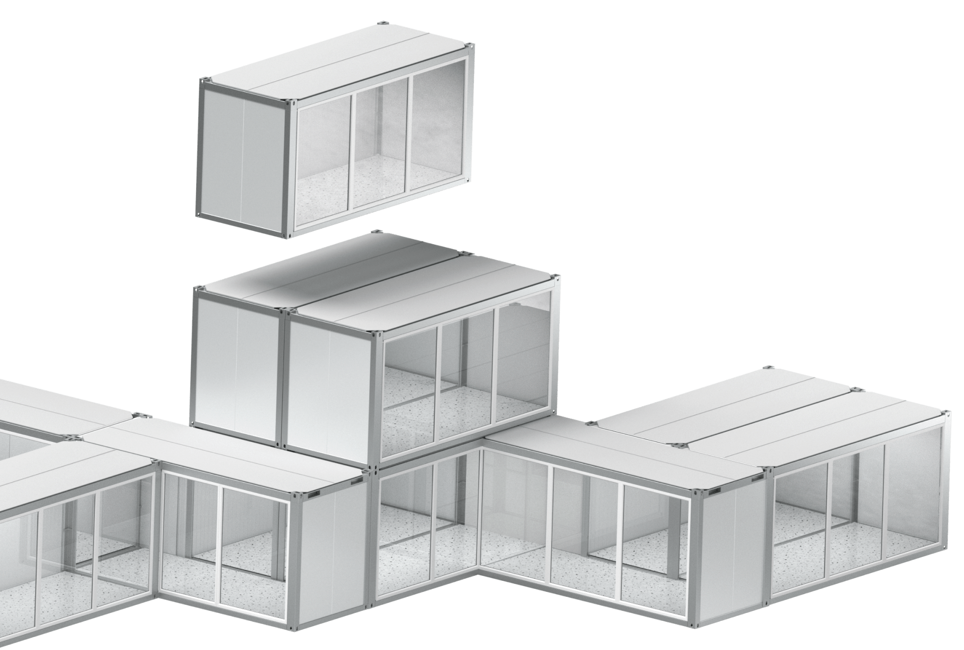 Prefab modular office building